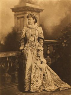 The Duchess of Hamilton as Mary Hamilton. The Duchess of Devonshire's Diamond Jubilee Costume Ball in 1897.