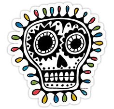 Sugar Skull - sharpie by Andi Bird <----looks like winter holiday lights around him!  Love it!