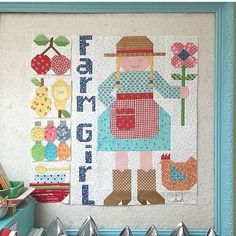 Are you a Farm Girl? If so, this sweet wall hanging is for you! @beelori1 has the details on her Insta, so click on over!