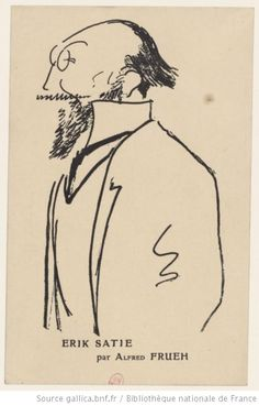 Erik Satie / [reprod. d'un dessin] d'Alfred Frueh - 1