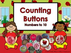 Counting Numbers 1 through 10 (buttons, math center) from Kelly Wilson on TeachersNotebook.com -  (7 pages)  - This is cute and simple way to engage the children in counting. There are 10 button themed number cards, each card showing a number and the corresponding number of buttons. This activity be used for center time, independent practice, or as one-on-one prac
