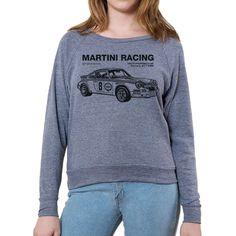 1973 Martini Racing Porsche  Women'S American Apparel Long Sleeve Pullover