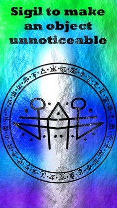 Sigil to make an object unnoticeable - Tattoo MAG Wiccan Runes, Wiccan Spell Book, Witch Spell, Sigil Magic, Magic Symbols, Norse Tattoo, Armor Tattoo, Viking Tattoos, Chakras