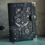 """Items similar to Steampunk pirate style Steampunk notebook Sailor journal """"Pirate logbook"""" Sailor gift diary Sailor gifts for him Winged skull notebook on Etsy Steampunk Book, Steampunk Pirate, Steampunk Crafts, Steampunk Gadgets, Steampunk Design, Steampunk Clothing, Steampunk Necklace, Gothic Steampunk, Victorian Gothic"""