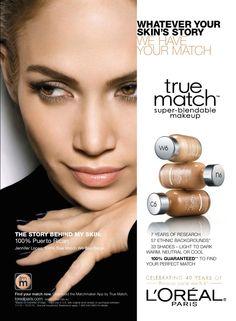 L'Oréal Paris Cosmetic Advertising with Jennifer Lopez