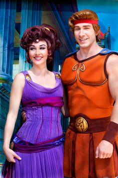 The Disneyworld Megara is supposed to be really sassy.  I want to find her, get shy and run away.  (Dunno whats going on with this Hercules, though)
