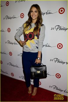 Jessica Alba - At the 3.1 Philip Lim for Target Launch Event held during 2013 New York Fashion Week Fall at Spring Studio in New York City.  (September 2013)