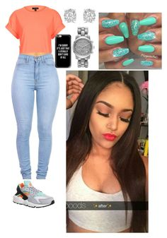 """""""Untitled #223"""" by queen-ayanna on Polyvore featuring Topshop, NIKE, Casetify, Effy Jewelry and Michael Kors"""