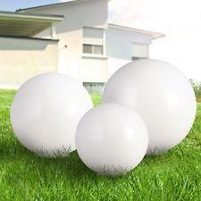 Set Di 3 LED solare Plug-in Luci Sfere Lampada Decorativa tondo bianco | eBay