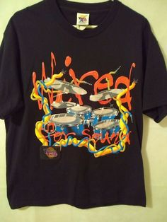c71d35794 Vintage 90s Wild Oats Touch Tone 1997 Shirt Wired For Sound Drums Large  #TouchToneWildOats #