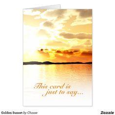 Golden Sunset Card