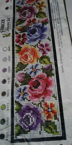 Cross Stitch Rose, Beaded Cross Stitch, Cross Stitch Flowers, Cross Stitch Patterns, Tapete Floral, Ethnic Bag, Rose Of Sharon, Diy Flowers, Bohemian Rug