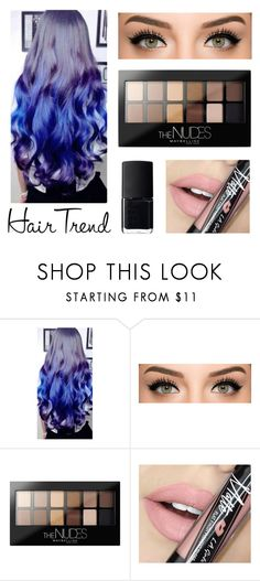 """Ombre Hair"" by paulinajuopperi ❤ liked on Polyvore featuring beauty, Maybelline, Fiebiger and NARS Cosmetics"