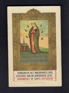 Goldprint  Holy Card ** Our Lady of the Swallows ** Lombarts Anvers