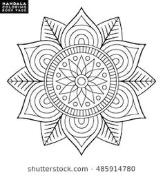 Find Flower Mandala Vintage Decorative Elements Oriental stock images in HD and millions of other royalty-free stock photos, illustrations and vectors in the Shutterstock collection. Mandalas Drawing, Mandala Coloring Pages, Mandala Painting, Coloring Book Pages, Dot Painting, Mandala Art, Zentangles, Mandala Oriental, Diy Bordados