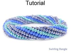 These twisted tubular herringbone stitch instructions will teach you how to make a DIY beaded bangle bracelet with seed beads by Simple Bead Patterns Beaded Bracelet Patterns, Jewelry Patterns, Beading Patterns, Beaded Necklace, Beaded Bead, Jewelry Ideas, Loom Patterns, Art Patterns, Beading Ideas
