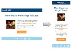 Responsive Email Design from Pandora
