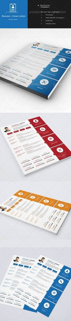 PSD – CV – Resume + Cover Letter » Vector, PSD Templates, Stock Images, After Effect ...