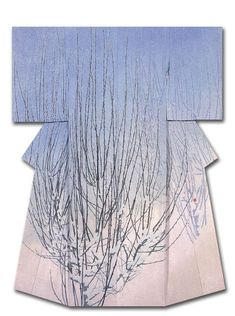 """""""Brean Sprouts"""". Silk kimono created by Uemura Beikasame. Winner of the Culture, Sports, Science and Technology Minister's Award at the 31st Annual Meeting of the Japanese textile artist Exhibition award . Japan"""