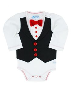 RuggedButts Red Tux Bodysuit is perfect for Christmas photos!