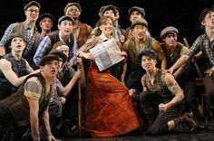 The cast of the new musical Newsies. More reviews from Curtain Critic: http://www.curtaincritic.com