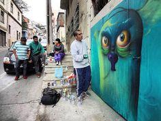 Artwork by NT1 Photo @lordk2 shot whilst documenting 'Street Art Santiago' published by @schifferpublishing #graffiti #art #arte #urbanart #arteurbano #artecallejero #street #mural #documentary #valparaiso #tagging #graff #gift #valpo #photojournalism #santiagostreetart #pintura #streetart #sprayart #santiago #streetartsantiago #chile #publicart #outdoorart #book #muralismo #chileno #artbook #santiagodechile #libro
