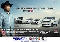 Per Chuck Norris non esistono i #contro. Solo i #pro Gamma #easypro, da 8.900 € con #clima e con #leasing facile da 82 € al mese e sui veicoli in pronta consegna 9.000 € di #vantaggi  http://www.nuovaauto3-fcagroup.it/fiatprofessional