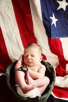 This tiny patriot: