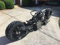 Twin Turbo all-wheel drive diesel motorcycle Concept Motorcycles, Cool Motorcycles, Trike Motorcycle, Steampunk Motorcycle, Futuristic Motorcycle, Kustom Kulture, Twin Turbo, Bike Design, Go Kart