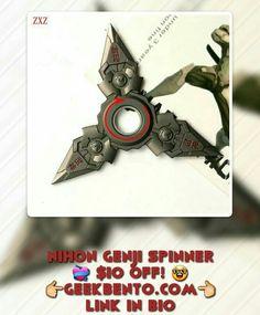 GENJI - Overwatch Nihon Genji Shuriken Fidget Spinner. Metal, Lasts Three Minutes Grab your Nihon Spinner At Geekbento.com $9.99 #Genji #overwatch #beautiful #spinners #fidgetspinners #memes #lol #funny