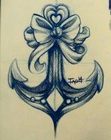 Tattoo Concept - Bow 'n Anchor by amymiu