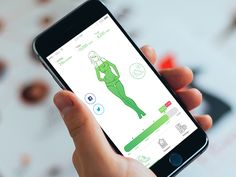 Fitness iPhone App Design Concept. #fitness #sport #app #mobile #design #ux #ui #mobile
