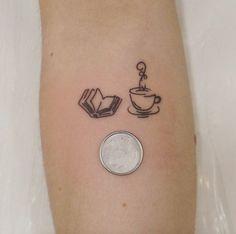 Tiny Book Tattoo by Felipe