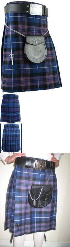 Sizes 30-44 Budget 5 Yard Kilt With Free Matching Kilt Pin Douglas Blue Fancy Colours