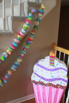 Handmade Cupcake Party Garlands by EllaJaneCrafts on Etsy Baking Birthday Parties, Baking Party, Birthday Party Themes, Birthday Ideas, 2nd Birthday, Birthday Blast, Cupcake Garland, Party Garland, Birthday Cupcakes