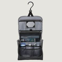 Pack-It™  Bi-Tech on Board  A water-repellent stand-up toiletry kit with spacious organization and swivel hook for easy hanging. Constructed of a durable, ruggedly handsome Bi-Tech™ material. http://shop.eaglecreek.com/packit-bitech-on-board/d/1297C2421?CategoryId=330