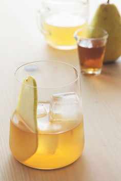 This pumpkin pie bourbon and pear cocktail is going to be a fast favorite.