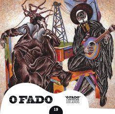 """2012 O Fado de José Malhoa 100 Anos 19 [Tugaland/A Bela e o Monstro] ilustração: Luís Manuel Gaspar """"A Fúria do Fado"""" #albumcover #illustration #fado #music"""