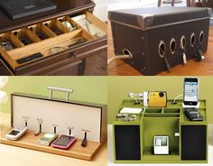 How to Organize your Cable and Cords Organizing Wires, Cord Organization, Organising Ideas, Nice Ideas, Diy Stuff, Getting Organized, Product Design, Helpful Hints, Homes