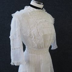1900s 1910s Vintage Antique Dress Edwardian by JuneeMoonVintage, $125.00