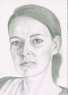 Pencil drawing of a model