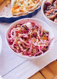 Coleslaw, Pasta Salad, Potato Salad, Cabbage, Seeds, Toast, Dishes, Vegetables, Healthy