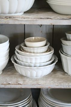 Vintage Ironstone Bowls - Ticking and Toile: ~neutral heaven~