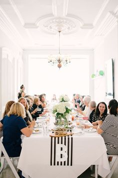 graphic black and white baby shower  | Brooklyn Living