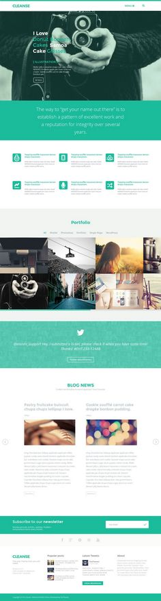 Cleanse – Minimal Portfolio WP Theme