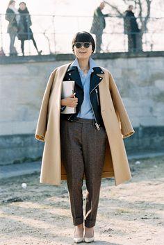 Layered coat love.