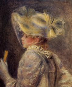 Pierre-Auguste Renoir - Woman in a White Hat, 1890, oil on canvas