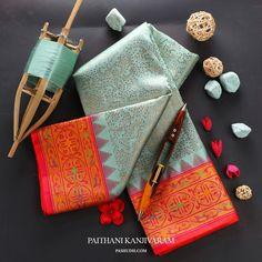 Silk Saree Kanchipuram, Kanjivaram Sarees, Silk Sarees, Saris, Indian Bridal Sarees, Bridal Silk Saree, Designer Sarees Collection, Saree Collection, Saree Color Combinations