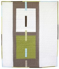 modern quilt-love this style for  bedroom