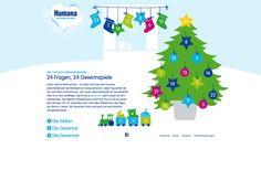 Humana: Adventskalender  Microsite, 2012